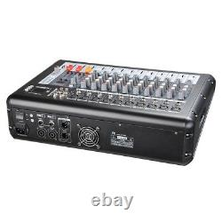 10 Channel Professional DJ Power Mixer Amplifier 16DSP LCD Recording USB Slot