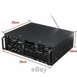 110V 2000W EQ Pro 326BT bluetooth Power Amplifier Home Stereo 2Ch AMP FM SD USB