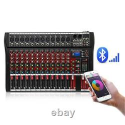 12 Channel Professional Powered Mixer power mixing Amplifier