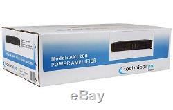 1200 Watt Pro Torque Audio 2 Ch Dj / Live Sound Rack Mount Power Amp Amplifier
