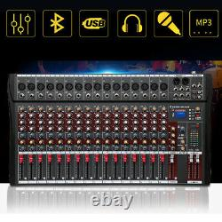 16 Channel Professional DJ Powered Mixer Power Mixing Amplifier USB Slot 16DSP