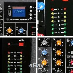 16 Channel Professional Powered Mixer power mixing Amplifier Amp SK16 + US Plug