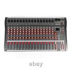 16 Channel Professional bluetooth Live Studio Audio Mixer power mixing Amplifier