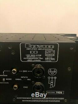2 Bryston 3B-ST Pro Power Amplifiers with Individual Gains 2-3-4 channels