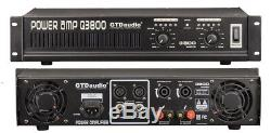 2 Channel 3800 Watts Professional Power Amplifier AMP Stereo Q3800