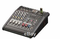 2000 Watt 4 Channel Professional Powered Mixer power mixing Amplifier Amp NEW