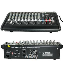 2000W 10 Channel Professional Powered Mixer power mixing Amplifier Amp 16DSP 48V
