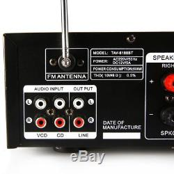 2000W Pro Bluetooth HiFi Power Amplifier Stereo Surround Amp Karaoke FM USB SD
