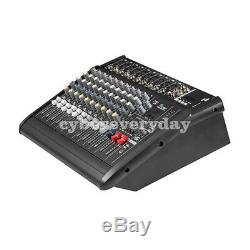 2000Watts 10 Channel Professional Powered Mixer Power Mixing Amplifier Amp