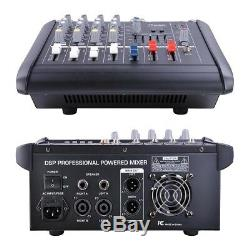 4 Channel Professional Powered Mixer Power Mixing Amplifier WithUSB Slot Amp 16DSP