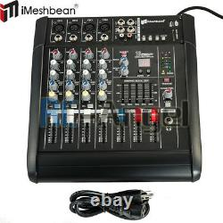 4 Channel Professional Powered Mixer power Mixing Amplifier Amp