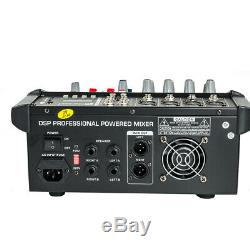 4 Channel Professional Powered Mixer power mixing Amplifier Amp 16DSP US