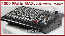 4000 Watt 10 Ch Professional Powered Mixer power mixing Amplifier Amp 9600