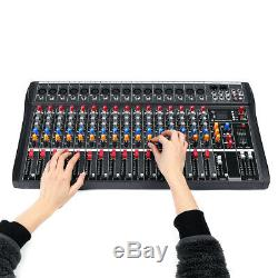 4000 Watts 16 Channel Professional Powered DJ Mixer Power Mixing Amplifier Amp