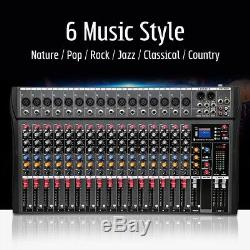 4000 Watts 16Channel Professional Powered DJ Mixer Power Mixing Amplifier Amp US