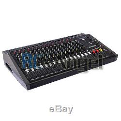 4000Watts 16 Channel Professional Powered Mixer power mixing Amplifier Amp 1608D