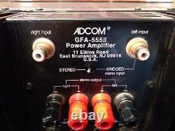 ADCOM GFA-555 II 200 Watt 2 Channel Power Amplifier Pro Serviced