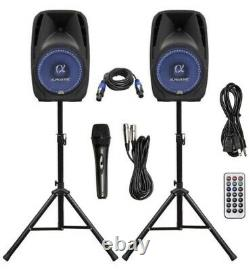 ALPHASONIK All-in-one 8 Powered 800W PRO DJ Amplified with Bluetooth Speakers