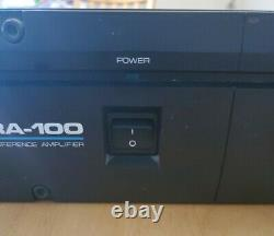 Alesis Ra-100 Reference Professional Power Amplifier 100w Per Channel