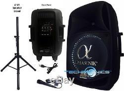 Alphasonik 15 Powered 2800w Pro Dj Bluetooth Usb Pa Led MIC Usb Speaker