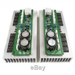 Assembled PR-800 Class A /AB professional power amplifier board with heatsink