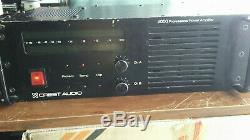 CREST AUDIO 4000 Professional Power Amplifier 1400 Watts RMS 8309A22 C4000