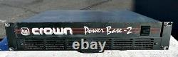 CROWN Power Base 2 Professional Power Amplifier Works Great Good Cond + wty