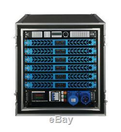 CVR D-1504 Series Professional Power Amplifier 1 Space 1500 Wattsx4 at 8 BLACK