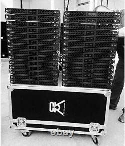 CVR D-2004 Series Professional Power Amplifier 1 Space 2000 Watts x4 at 8 BLACK
