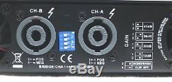 CVR D-3002 Series Professional Power Amplifier One Space 3000 Watts x2 at 8 BLK