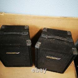 Carlsbro Cobra Pa100 Professional 4-channel Pa Power Amp & Speakers