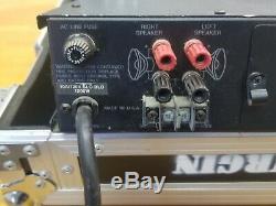 Carver PM-350 Power Amp with Marathon Pro Road Case