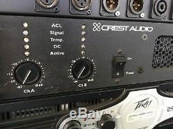Crest Audio PRO8200 Professional Power Amplifier 2 x 2250w Lightweight amp