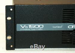 Crest Audio Vs1500 Amp 2000 Watt Pro Live Sound Professional Power Amplifier