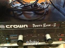 Crown 550 Watt, power base 3 Professional Stereo AMP DJ Live sound