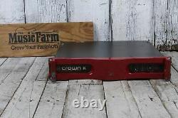 Crown Commercial Series K2 Amplifier Professional Audio 2 Channel Power Amp Red