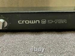 Crown D-75A Dual Channel Professional Audio Power Amplifier 30 Day Warranty