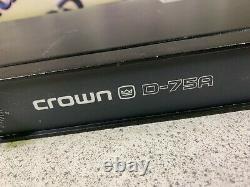 Crown D-75A Professional Power Amplifier