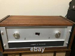 Crown DC300A Amplifier with rare walnut wood case professional power amp USA