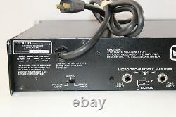 Crown MT-1200 Pro Audio PA Power Amplifier w. Manual (2x480w @ 4 ohm/1300W mono)