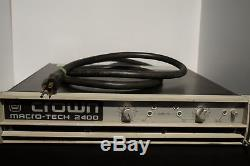 Crown Macro Tech 2400 Pro Audio Stereo Amplifier