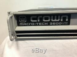 Crown Macro-tech 3600vz Professional Power Amplifier