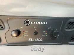 Crown Pro Audio XLi1500 2 Channel DJ/PA Power Amplifier Amp