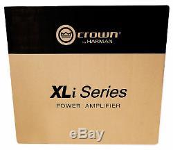 Crown Pro Audio XLi2500 1500w 2 Channel DJ/PA Amplifier+2 Speakon to 1/4 Cables