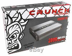 Crunch PD3000.1D 3000 Watt Mono Amplifier Pro Power Car Stereo Sub Amp Class D