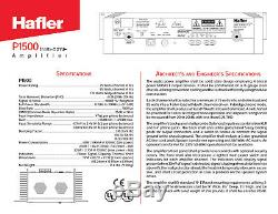 Hafler P1500 Trans-Nova Professional Power Amplifier