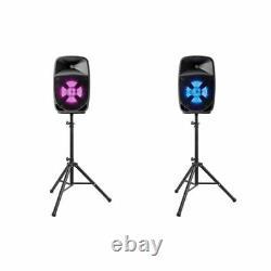 ION Pro Glow Duo 8 Compact High-power 300w PA Bi-Amplified Bluetooth Speaker