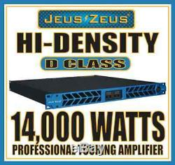 Jeus Zeus D-1504 Hi-density 4-ch 14,000 Watt 1u Professional Power Amplifier