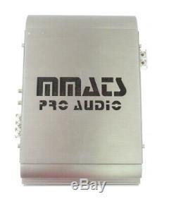 MMATS Pro Audio D1100.2 2-Channel Power Amplifier Car Stereo, 550 x 2 @ 2