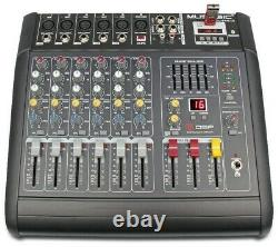 MUSYSIC 6 CHANNEL 2000 Watts PROFESSIONAL POWER MIXER AMPLIFIER With USB
